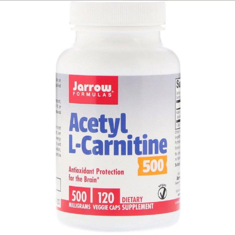 Купить Ацетил L-Карнитин, Acetyl L-Carnitine, Jarrow Formulas, 500 мг, 120 капсул