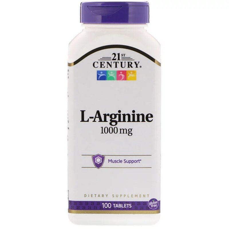 Купить L-аргинин, 1 000 мг, 21st Century, 100 таблеток