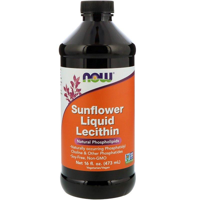 Купить Подсолнечный Лецитин, Sunflower Liquid Lecithin, Now Foods, 473 мл.