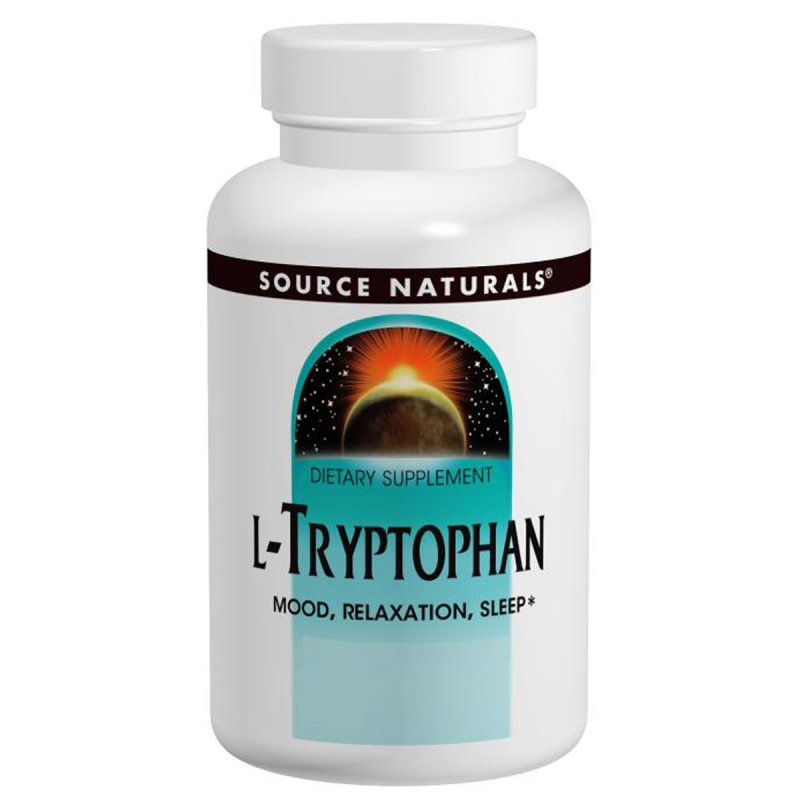 Купить L-Триптофан, 500 мг, Source Naturals, 30 таблеток