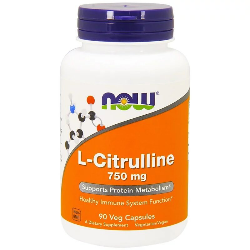 Купить L-Цитруллин 750мг, Now Foods, L-Citrulline, 90 капсул