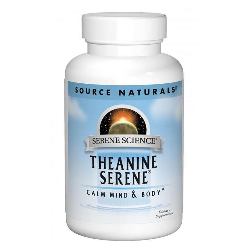 Купить Теанин Серен, Serene Science, Source Naturals, 60 таблеток