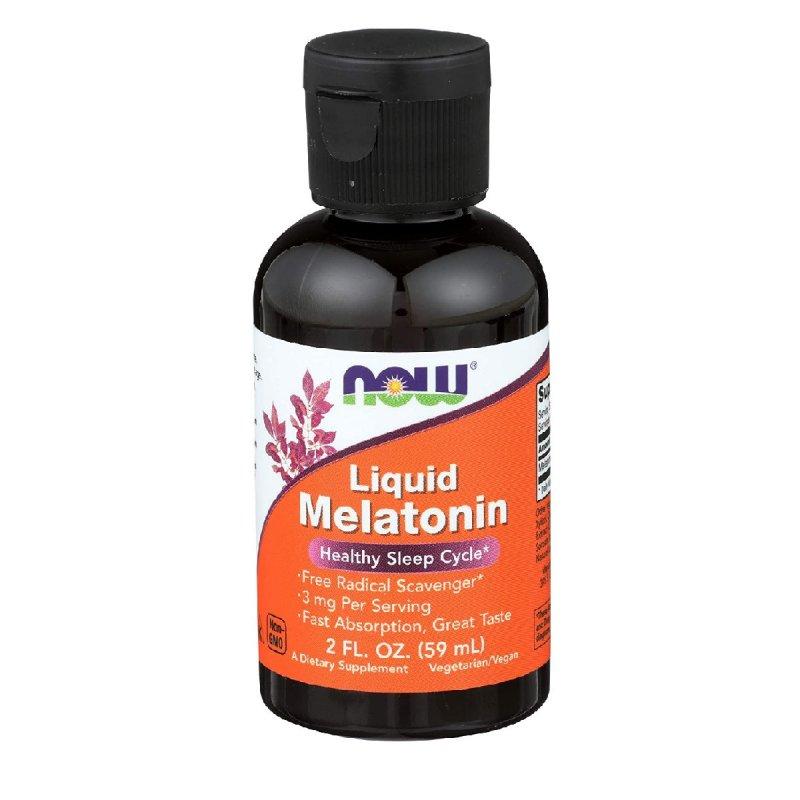 Купить Мелатонин жидкий, Liquid Melatonin, Now Foods, 2 жидких унции (59 мл)