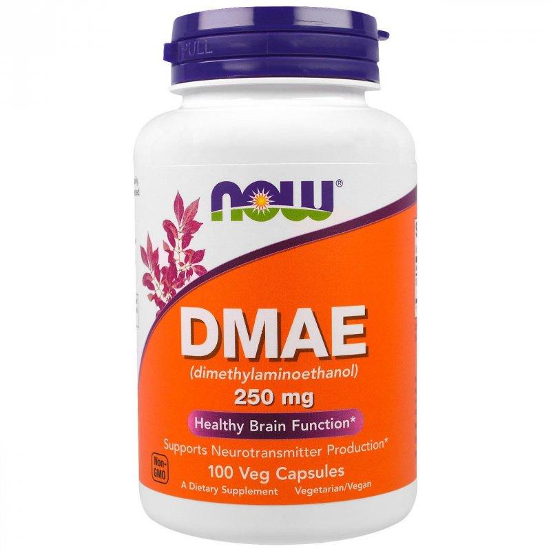 Купить DMAE (диметиламиноэтанол) 250мг, Now Foods, 100 гелевых капсул