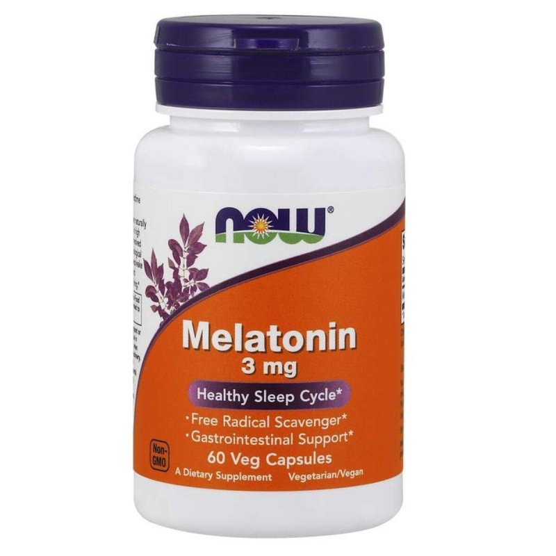 Купить Мелатонин 3 мг, Now Foods, 60 капсул