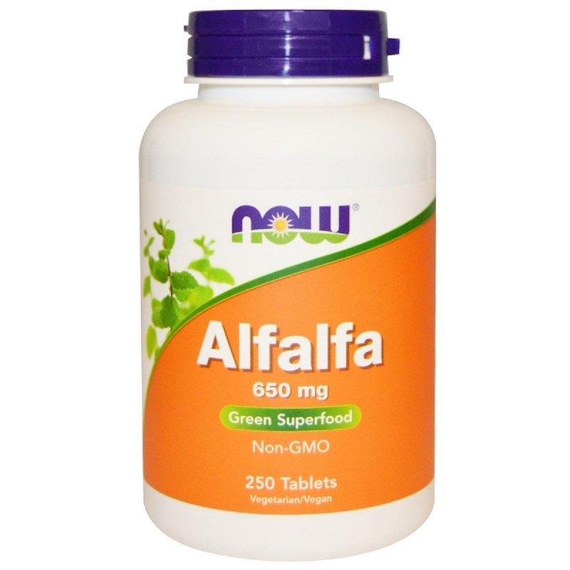 Купить Люцерна, Alfalfa, Now Foods, 650 мг, 250 таблеток