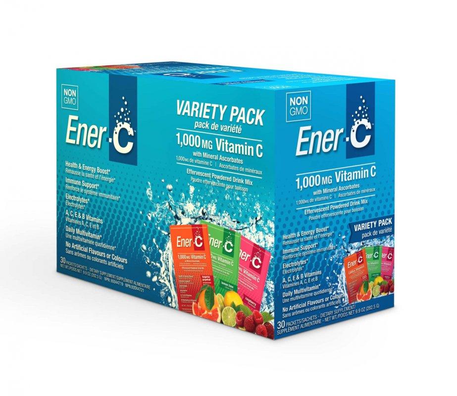 Купить Витаминный Напиток для Повышения Иммунитета , Ассорти, Vitamin C, Ener-C, 30 пакетиков