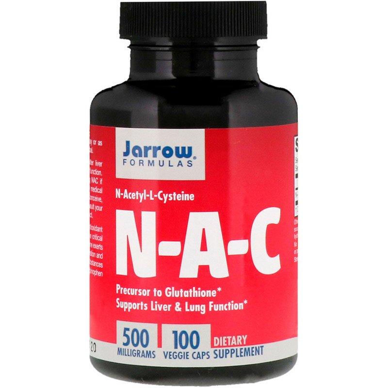 Купить NAC (N-Ацетил-L-Цистеин), 500 мг, Jarrow Formulas, 100 вегетарианских капсул