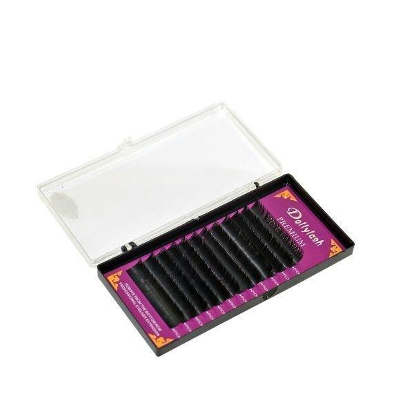 Купить Ресницы для наращивания Premium mink Lishes. 0,15. CD 9-14 мм. 12 линий 0.15 11mm C