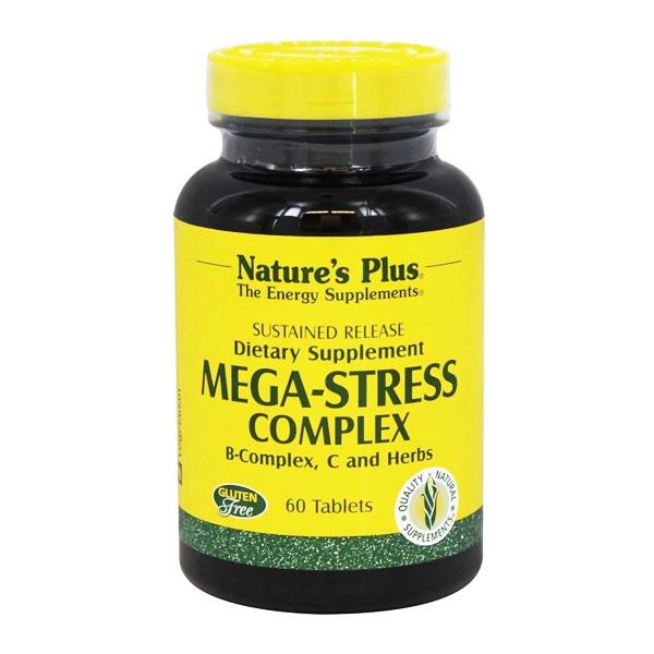 Купить Комплекс для Борьбы со Стрессом и Поддержания Энергии, Mega-Stress, Natures Plus, 60 таблеток