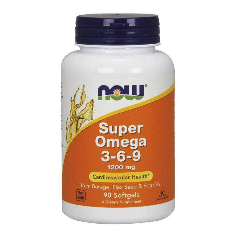 Купить Супер Омега 3-6-9, Super Omega 3-6-9, , Now Foods, 1200 мг, 90 желатиновых капсул