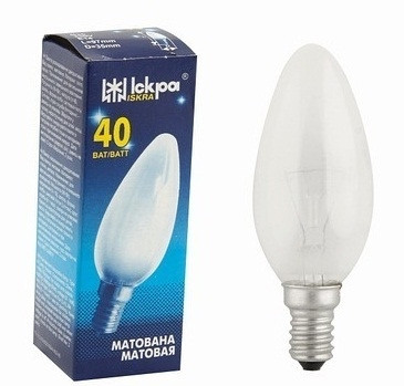 "Лампа накаливания ""свеча"" ДСМТ 230-40 Вт Е27 матовая колба"