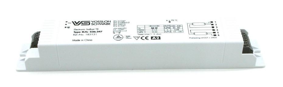 Балласт Vossloh-Schwabe ELXc 236.247 (T8 2 x36W) CN