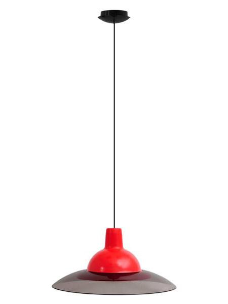 Светильник потолочный ERKA 1305 красный с черным кабелем