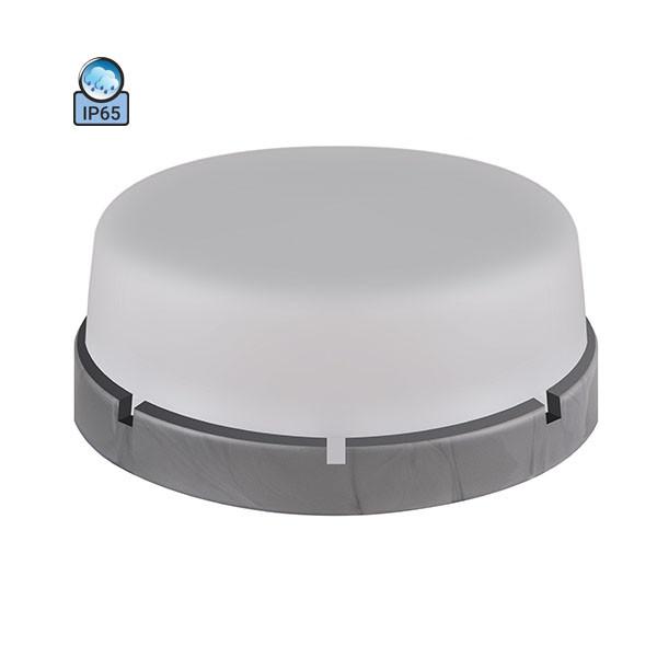Светильник потолочный ERKA 1065-SB IP65 матовый/серебро