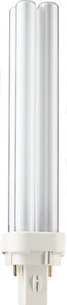 Лампа энергосберегающая Philips PL-С 18W/830/4P G24-q2