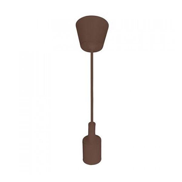 Светильник подвесной Horoz Electric VOLTAE27 коричневый
