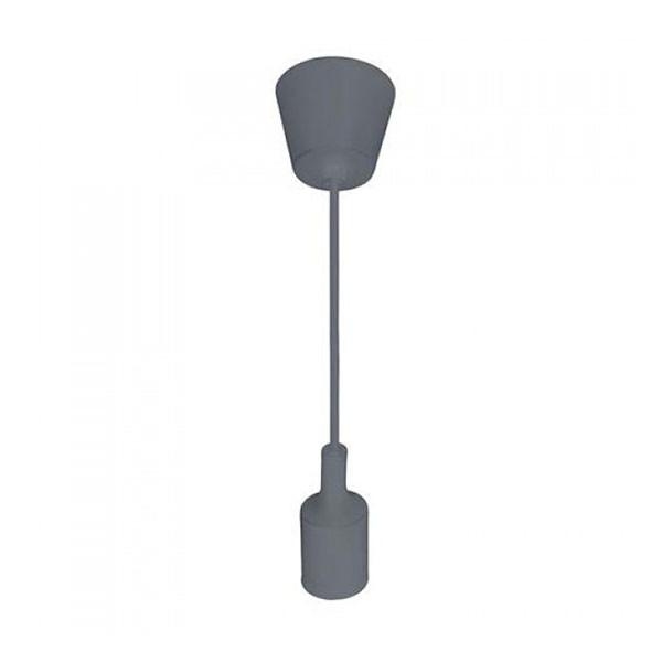 Светильник подвесной Horoz Electric VOLTAE27 серый
