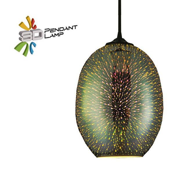 Светильник подвесной Horoz Electric QUANTUM-2 3D-эффектовал цвет-хром E27