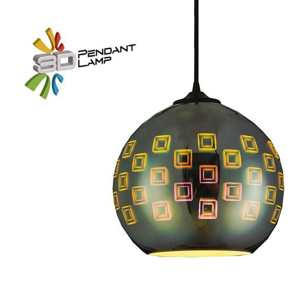 Светильник подвесной Horoz Electric SPECTRUM-1 3D-эффектшар цвет-хром E27