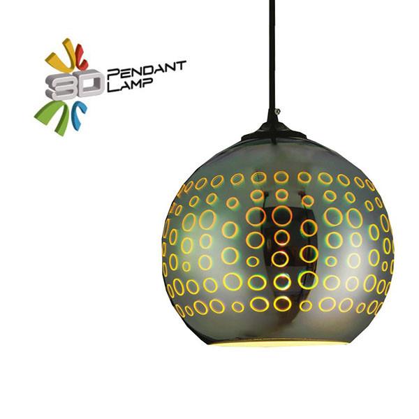 Светильник подвесной Horoz Electric RADIAN-1 3D-эффектшар цвет-хром E27