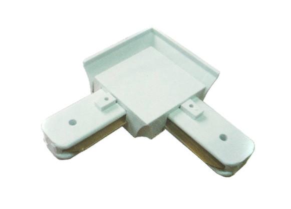 Коннектор угловой Ultralight однофазный белый