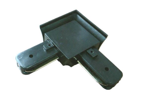 Коннектор угловой Ultralight однофазный черный