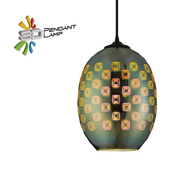 Светильник подвесной Horoz Electric SPECTRUM-2 3D-эффектовал цвет-хром E27