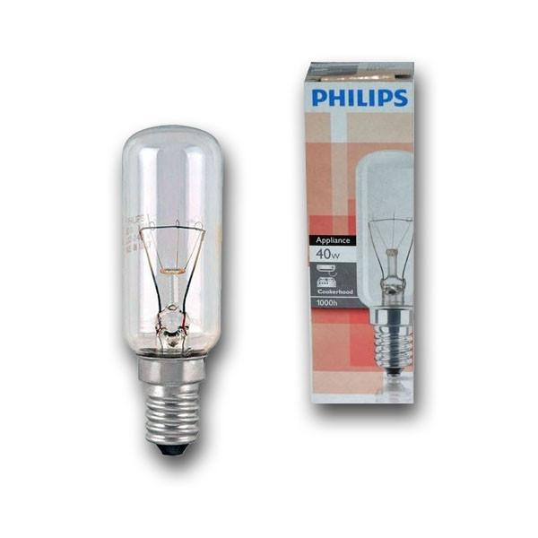 Лампа накаливания для вытяжки Philips Appliance 40W E14 230-240V T25L CL