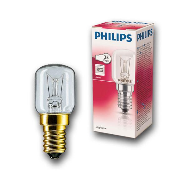 Лампа накаливания для духовок Philips Appliance 25W E14 230-240V T25 CL OV 300°C