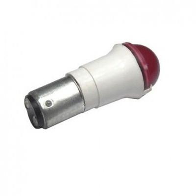 Лампа СКЛ10А-К-2-220 B15d/19 Красная