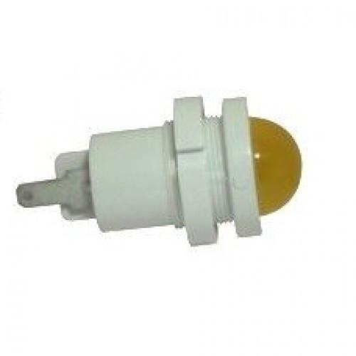 Лампа СКЛ12Б-Ж-2-220 Ø 22 Желтая