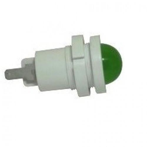Лампа СКЛ12В-Л-2-220Ч Ø 22 Зеленая