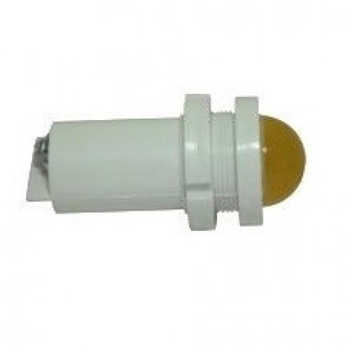 Лампа СКЛ14А-Ж-2-127Т Ø 22 Желтая