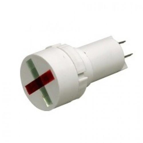Лампа СКЛ14.3-КЛ-1-24ИН Ø 22 Красно-зеленая