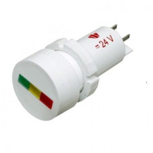 Лампа СКЛ14.3-КЛЖ-1-24-ИП Ø 22 Красно-зелено-желтая
