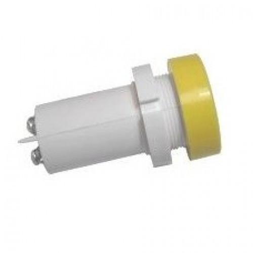 Лампа СКЛ14А-Ж-2-220П Ø 22 Желтая
