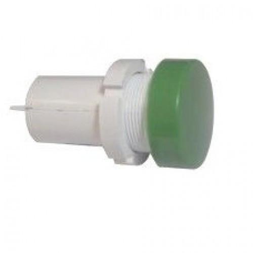 Лампа СКЛ14Б-Л-2-380П Ø 22 Зеленая