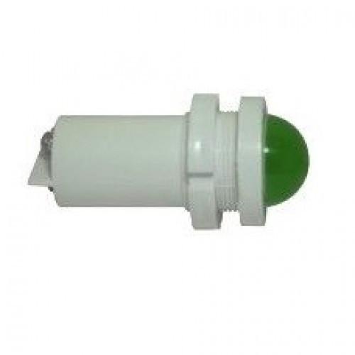 Лампа СКЛ14Б-Л-3-220 Ø 22 Зеленая