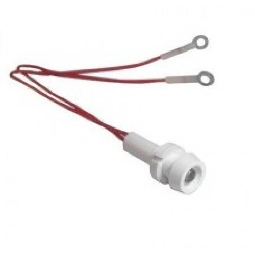 Лампа СКЛ15.2А-К-2-220 Ø 8 Красная