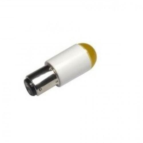 Лампа СКЛ2Б-Ж-2-220 B15d/19 Желтая