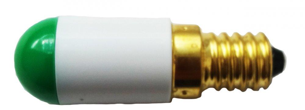 Лампа СКЛ6А-Л-2-220 Е14/25х17 Зеленая