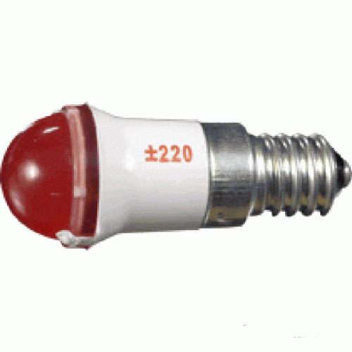 Лампа СКЛ9А-ЛМ-2-24 E14/25x17 Зеленая