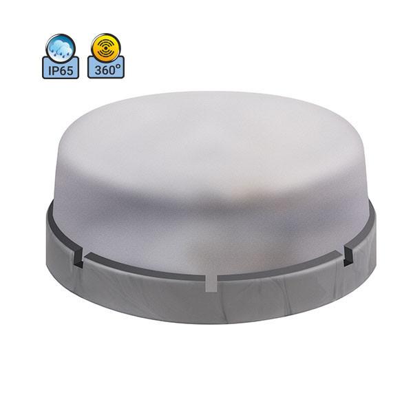 Светильник потолочный ERKA 1065D.i-S IP65 прозрачный/серебро с микроволновым датчиком движения