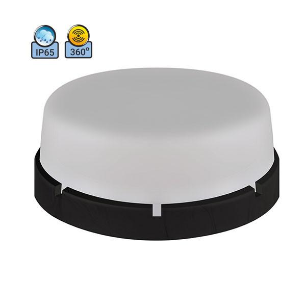 Светильник потолочный ERKA 1065D.i-Black-B IP65 матовый/черный с микроволновым датчиком движения