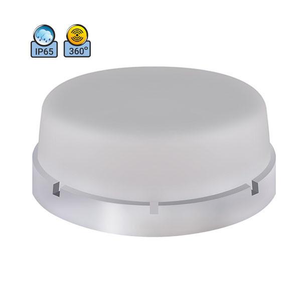 Светильник потолочный ERKA 1065D.i-PB IP65 матовый/прозрачный с микроволновым датчиком движения