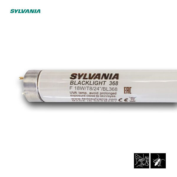 Лампа ультрафиолетовая в ловушки для насекомых Sylvania F18W/T8/BL368 G13