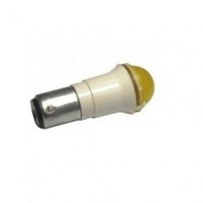 Лампа СКЛ10А-Ж-2-220 B15d/19 Желтая