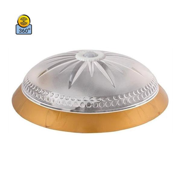 Светильник потолочный ERKA 1149D-G прозрачный/золото с датчиком движения