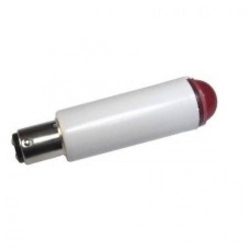 Лампа СКЛ1А-К-2-220 B15d/18 Красная